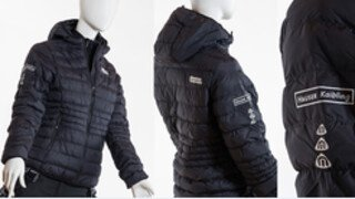 Ladies down jacket black